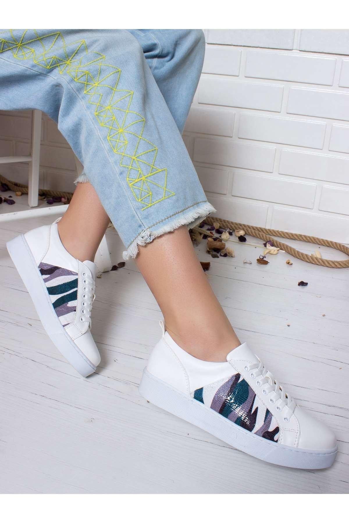 Bambina Spor Ayakkabı BEYAZ-KAMUFLAJ