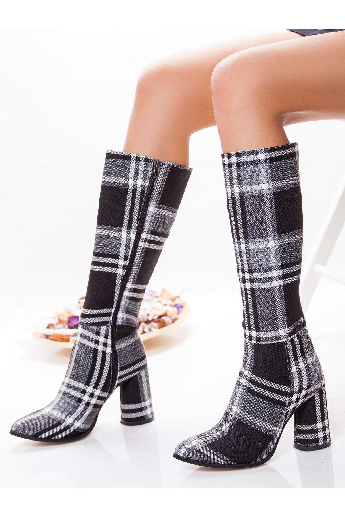 Batter Ekose Çizme GRI