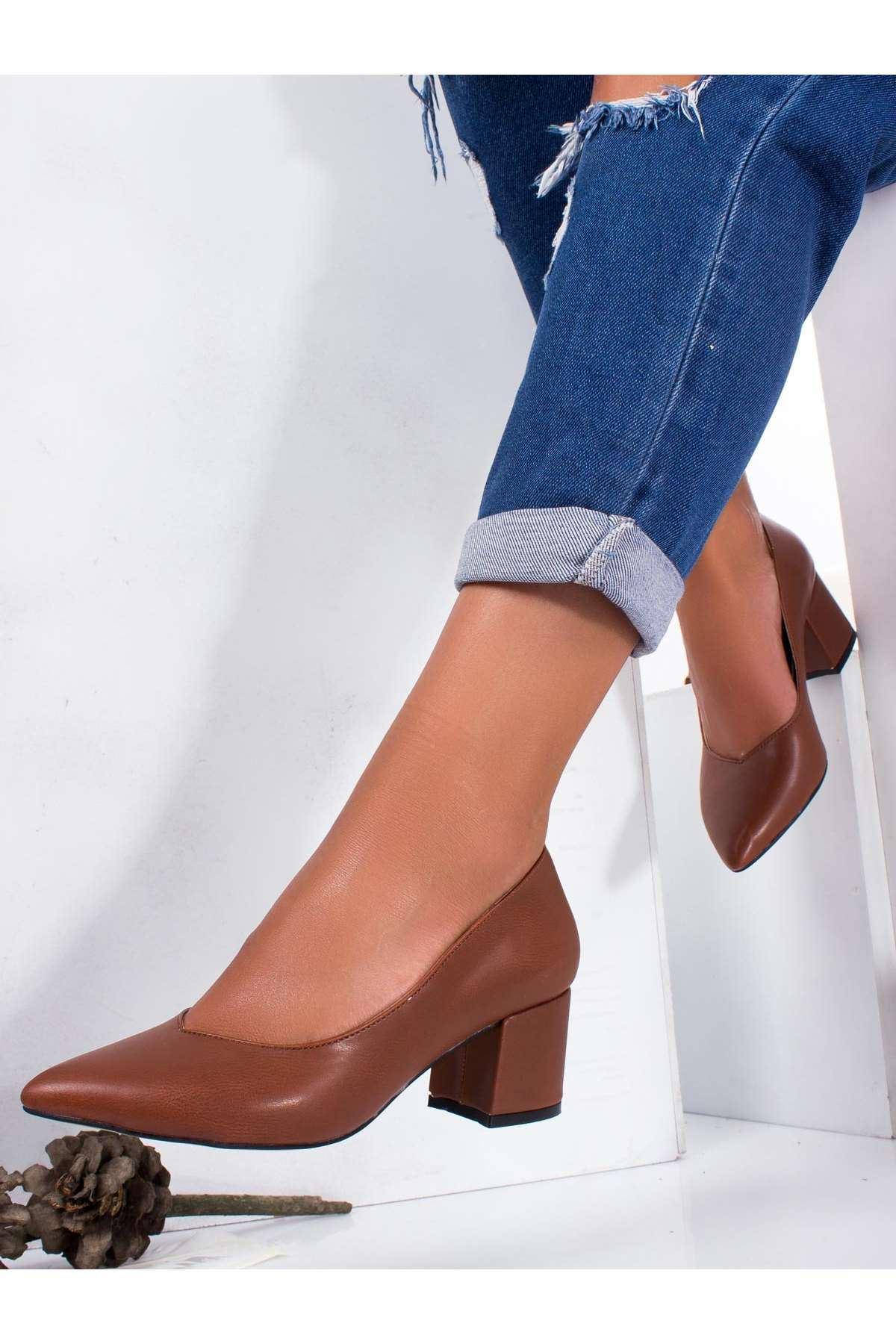 Carola Cilt Topuklu Ayakkabı TABA