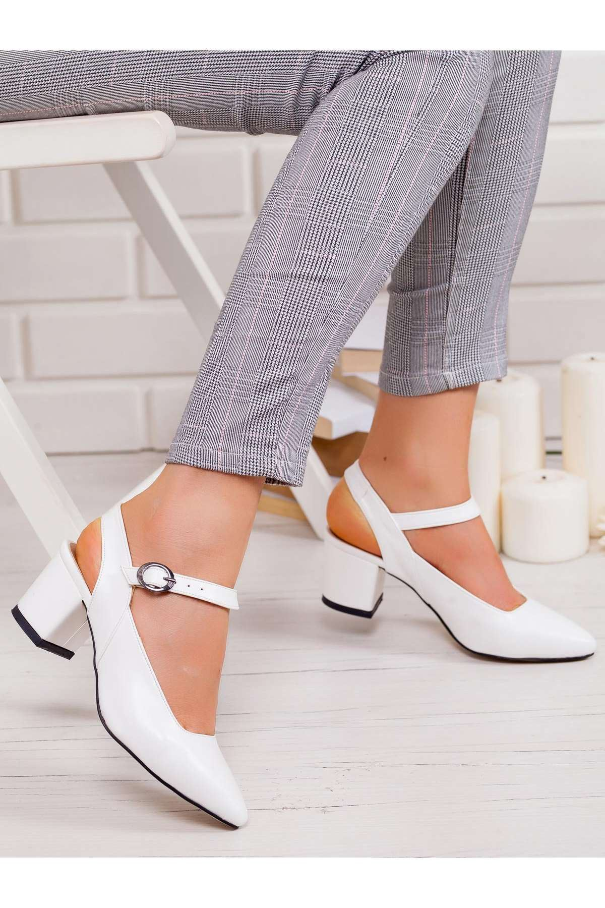Dakata Topuklu Ayakkabı BEYAZ