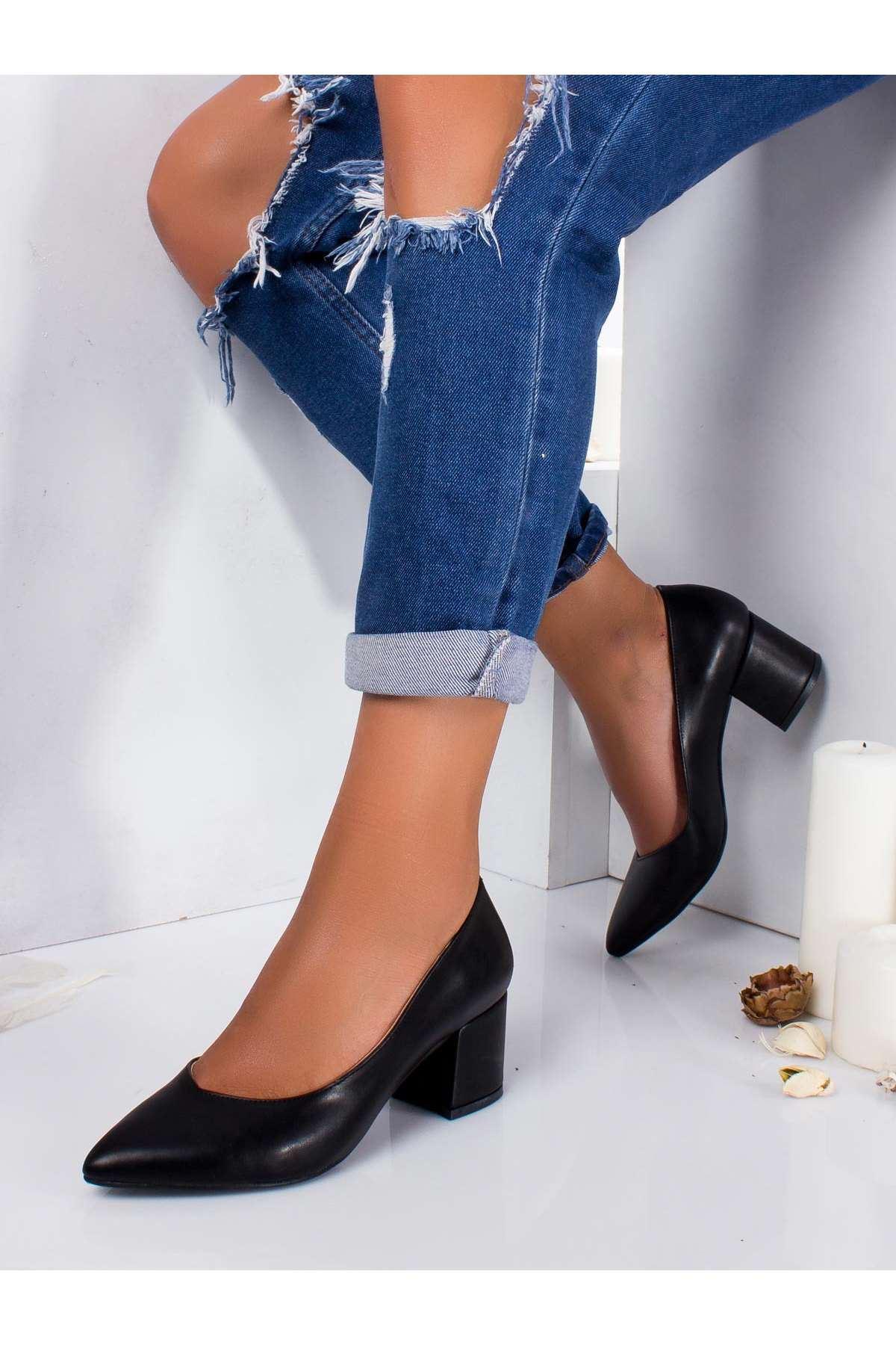 Carola Cilt Topuklu Ayakkabı SIYAH
