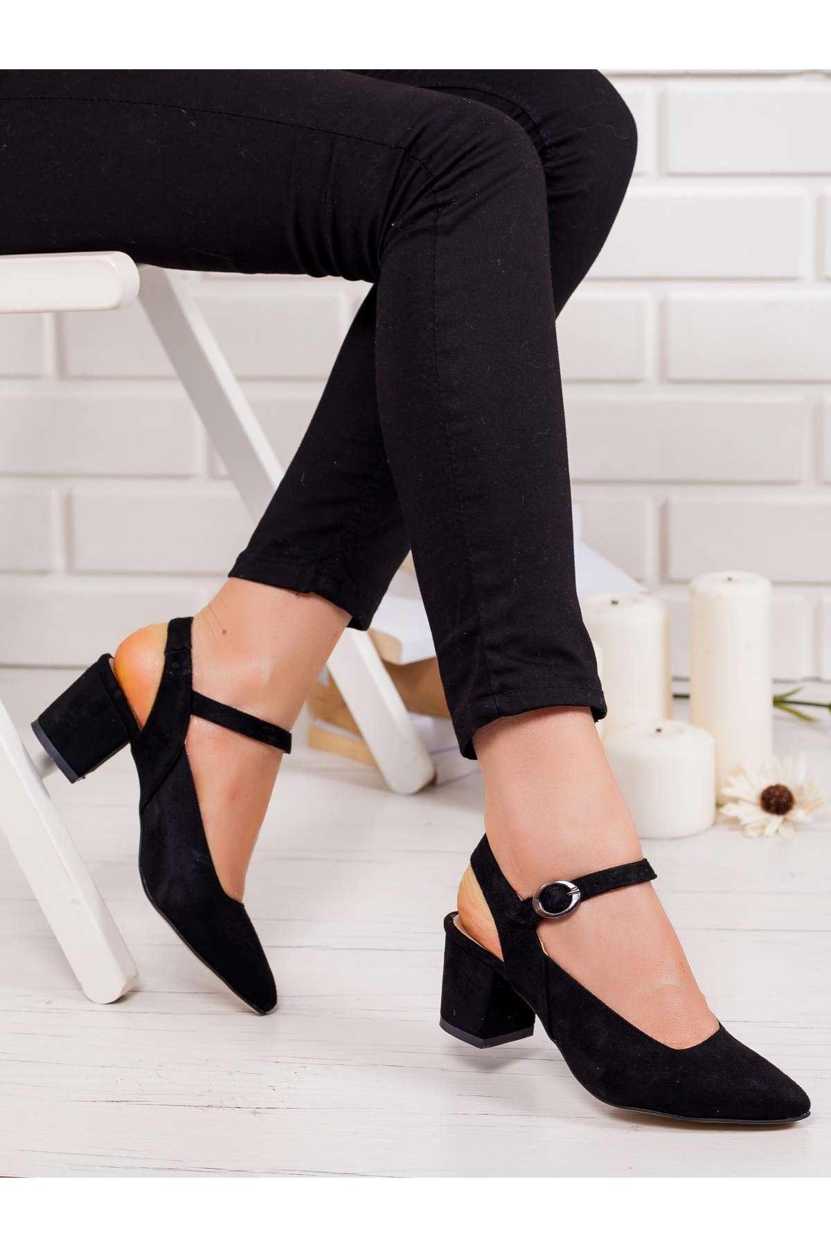 Dakata Topuklu Ayakkabı SİYAH SÜET