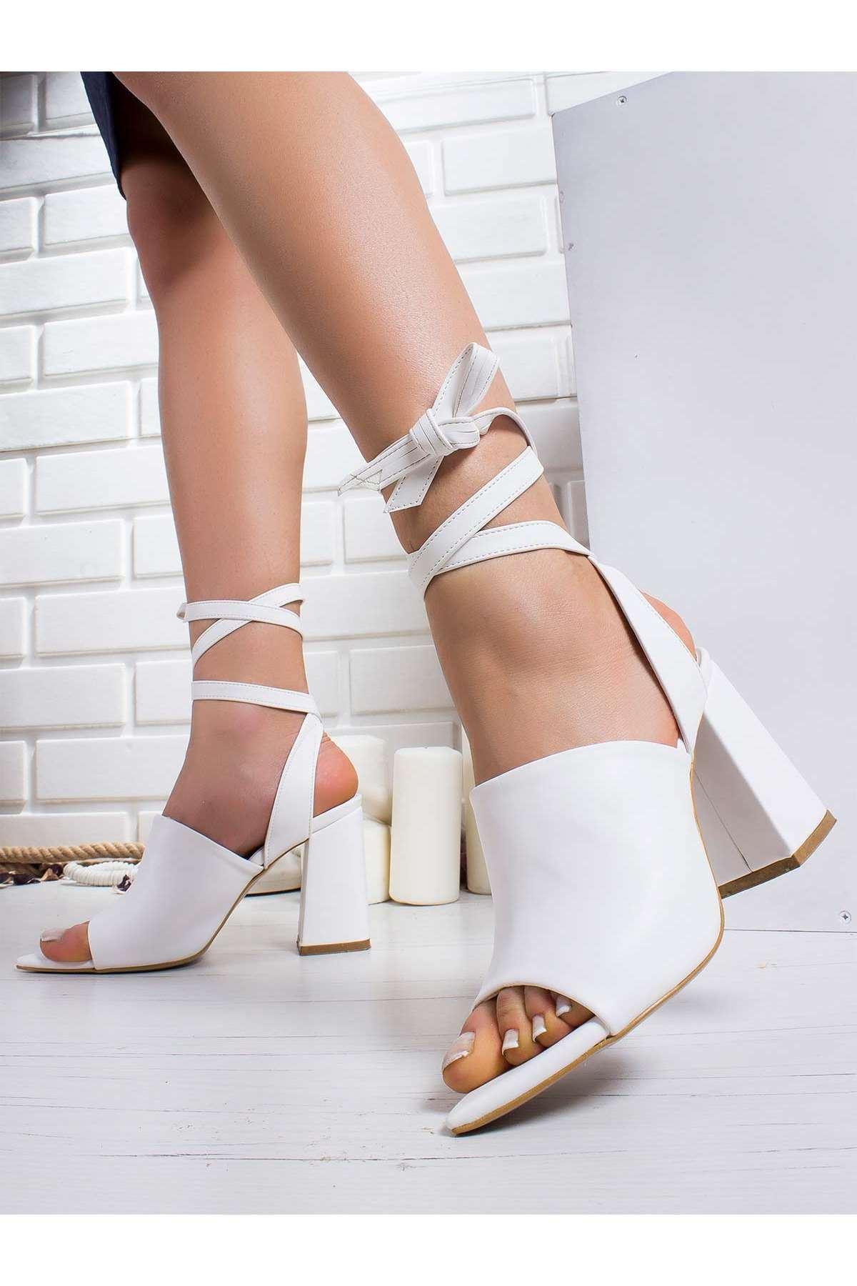 Irıs Topuklu Ayakkabı BEYAZ