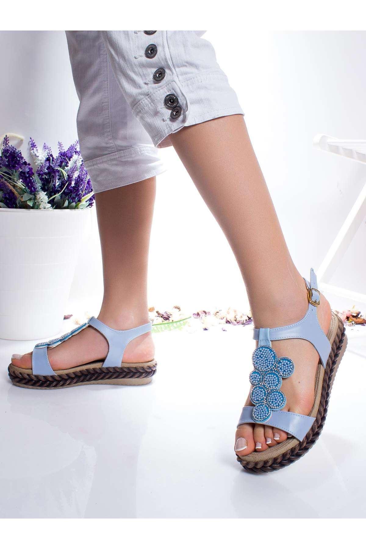 Fleur Sandalet BEBE MAVİSİ