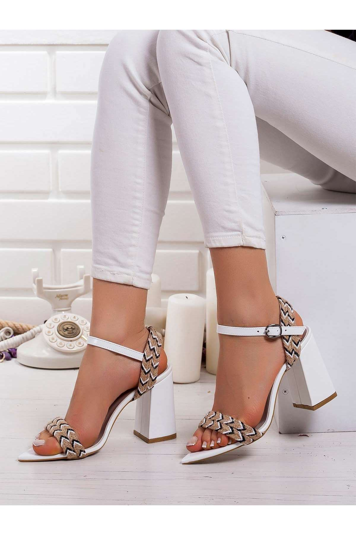 Greta Topuklu Ayakkabı BEYAZ