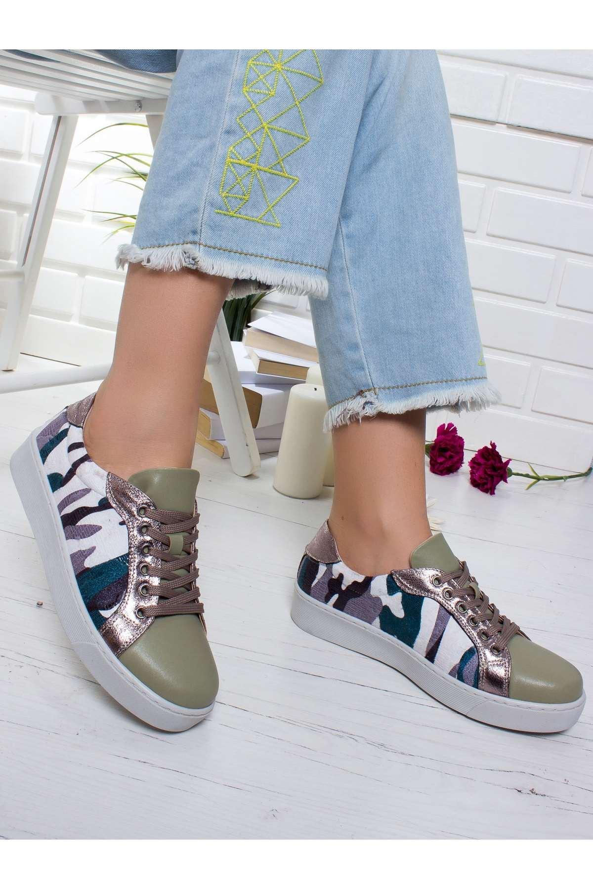 Ercas Spor Ayakkabı HAKİ-KAMUFLAJ