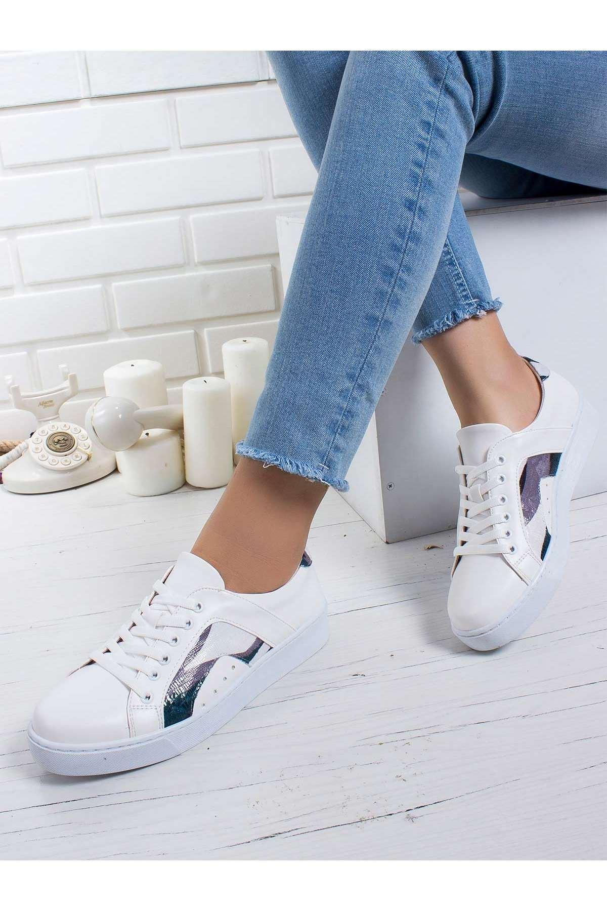 Vanni Spor Ayakkabı BEYAZ-KAMUFLAJ