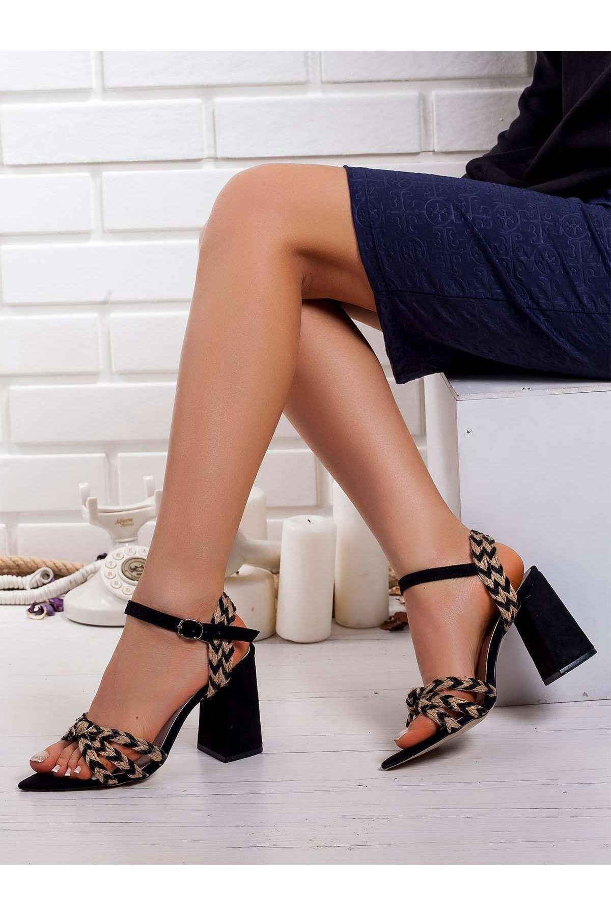 Nario Topuklu Ayakkabı SIYAH