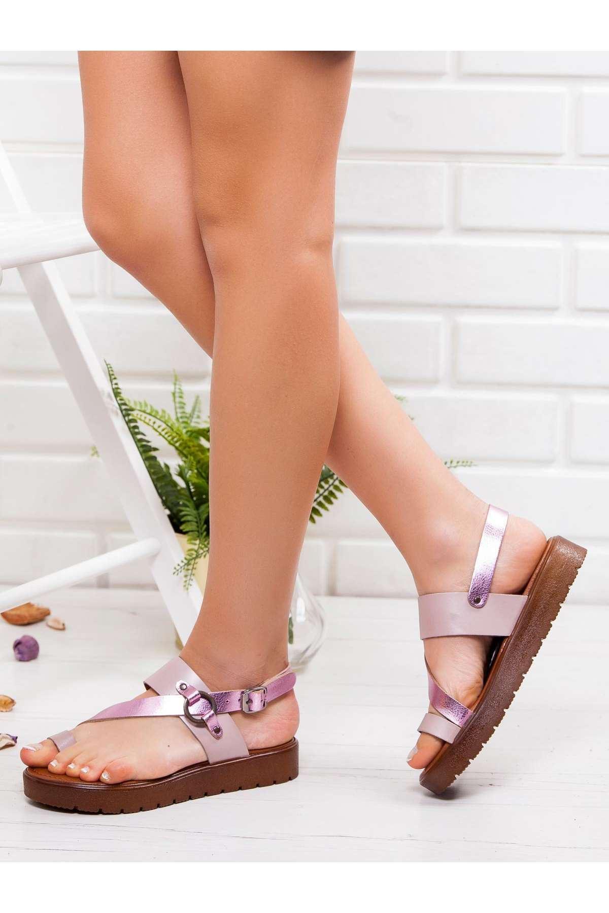 Alaçatı Hakiki Deri Sandalet FUJYA