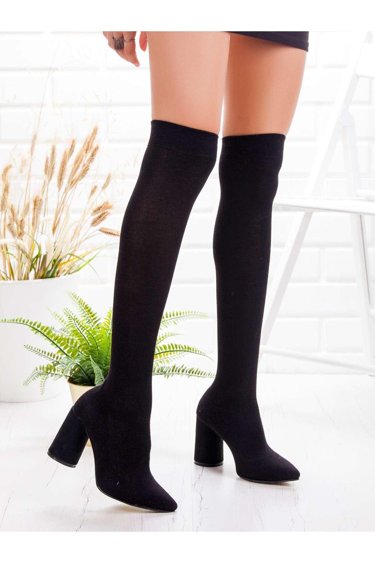 Baster Çorap Çizme SIYAH