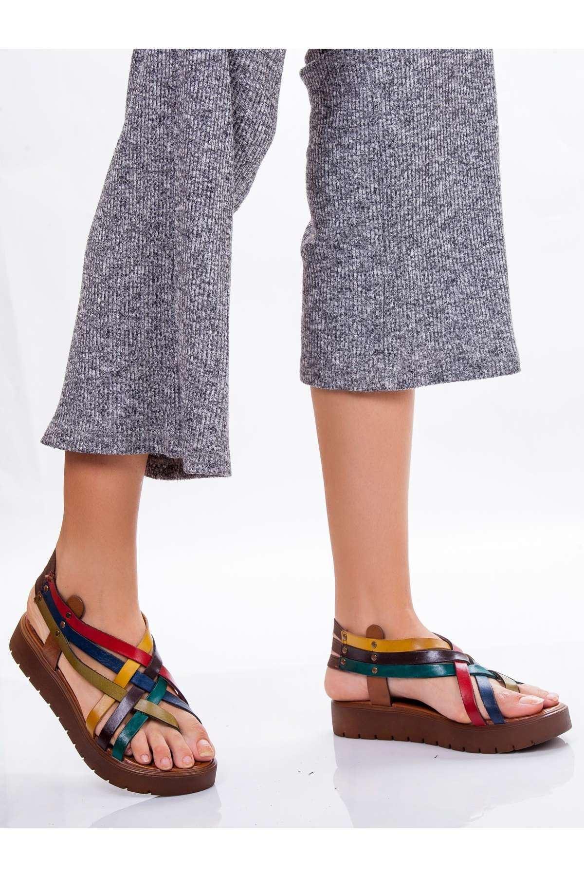 Amor Hakiki Deri Sandalet MİX