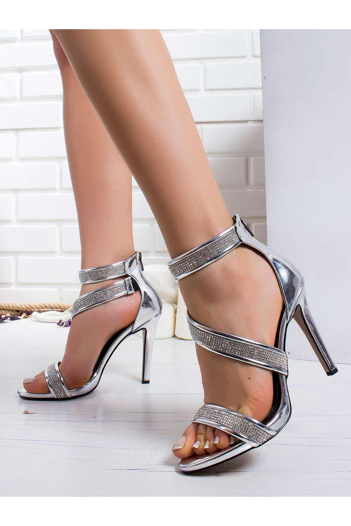 Grace Platform Ayakkabı GÜMÜŞ-AYNA