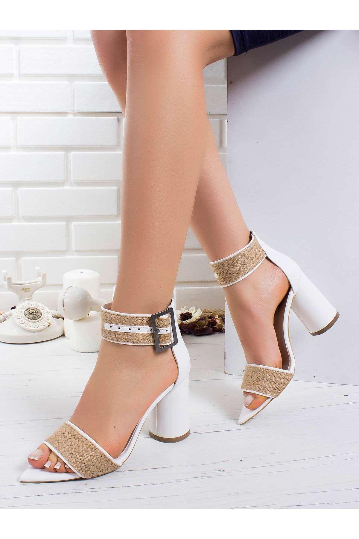 Fregot Topuklu Ayakkabı BEYAZ
