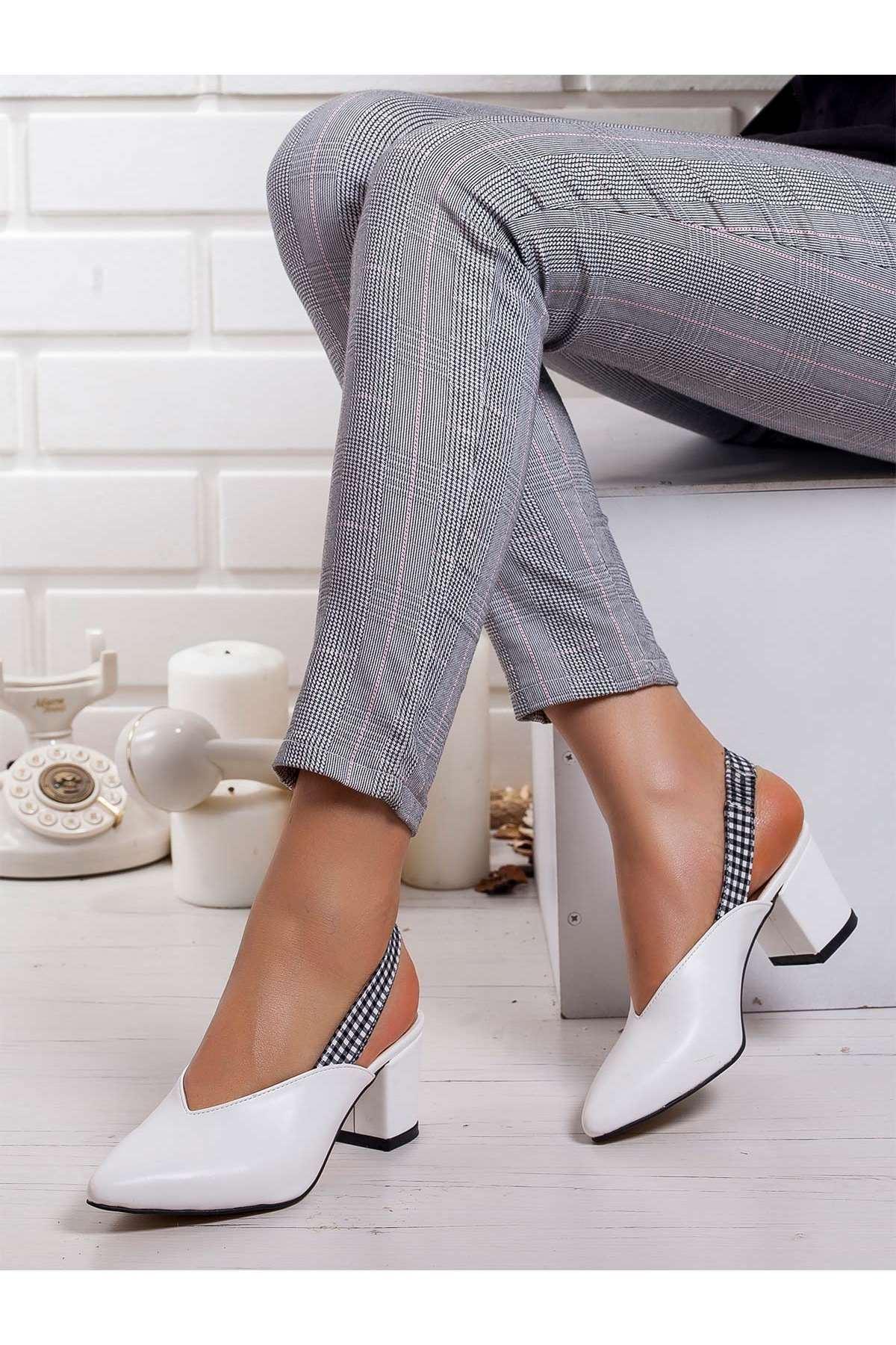 Erika Topuklu Ayakkabı BEYAZ