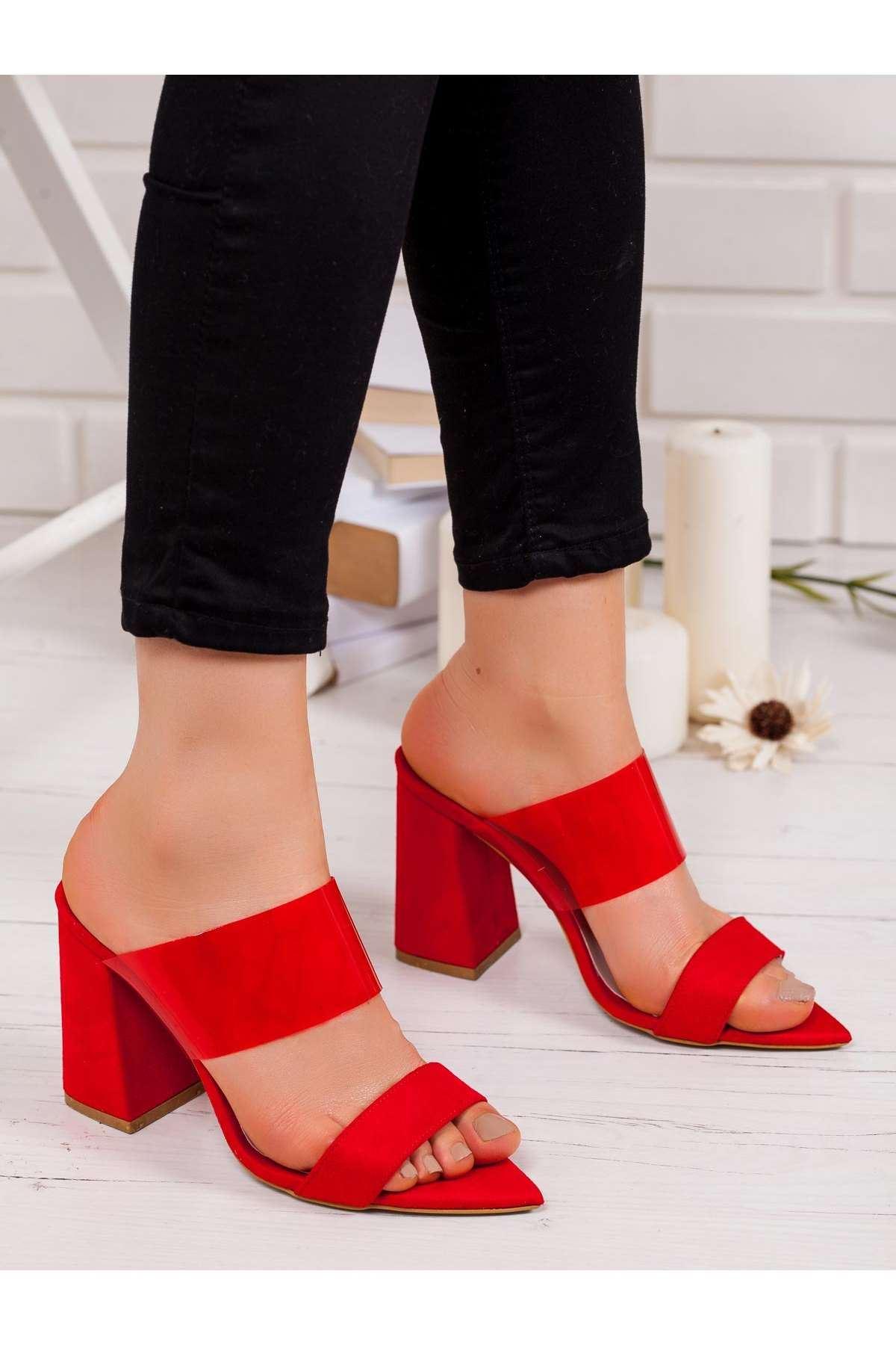 Ella Topuklu Ayakkabı KIRMIZI