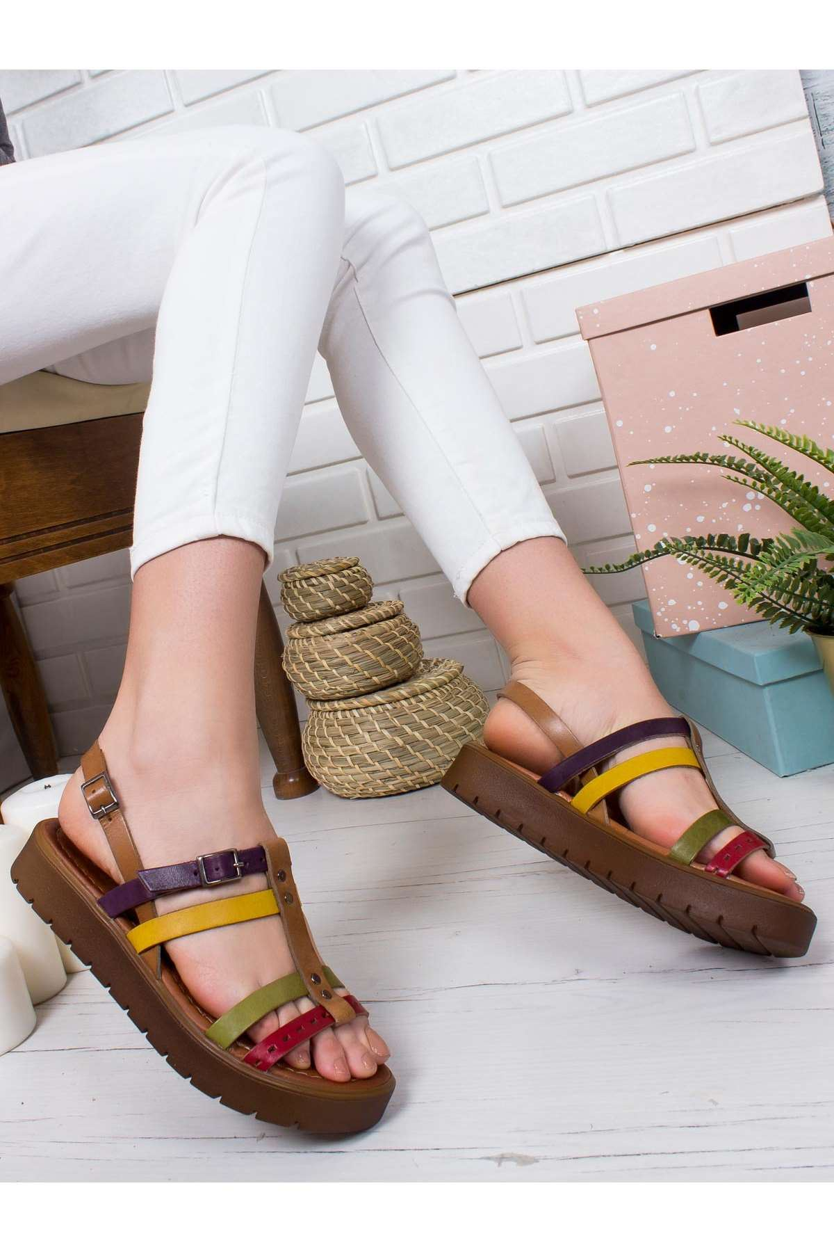 Tito Hakiki Deri Sandalet MİX