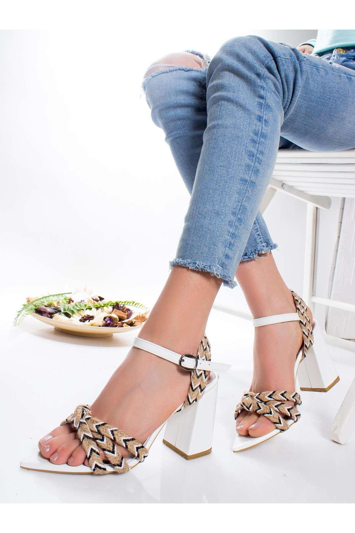 Nario Topuklu Ayakkabı BEYAZ