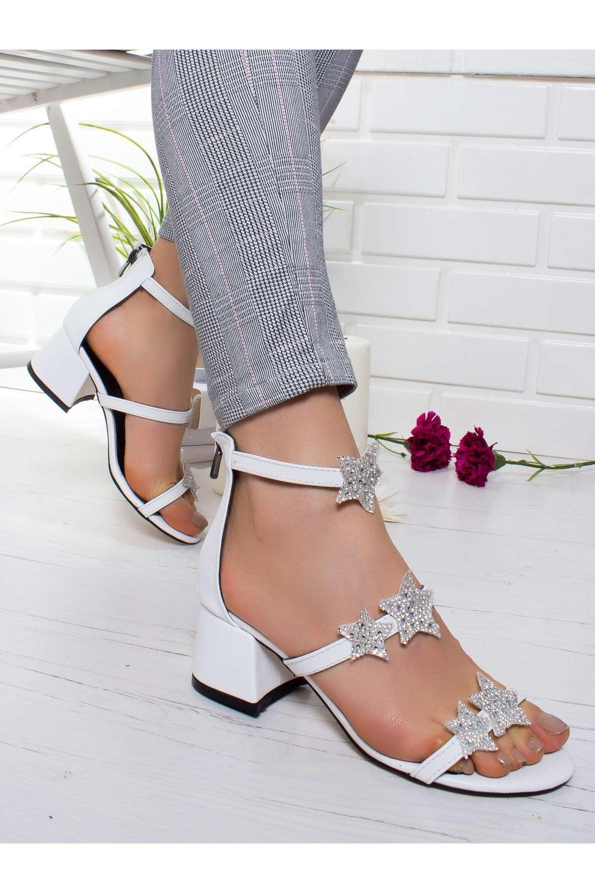 Yıldas Topuklu Ayakkabı BEYAZ