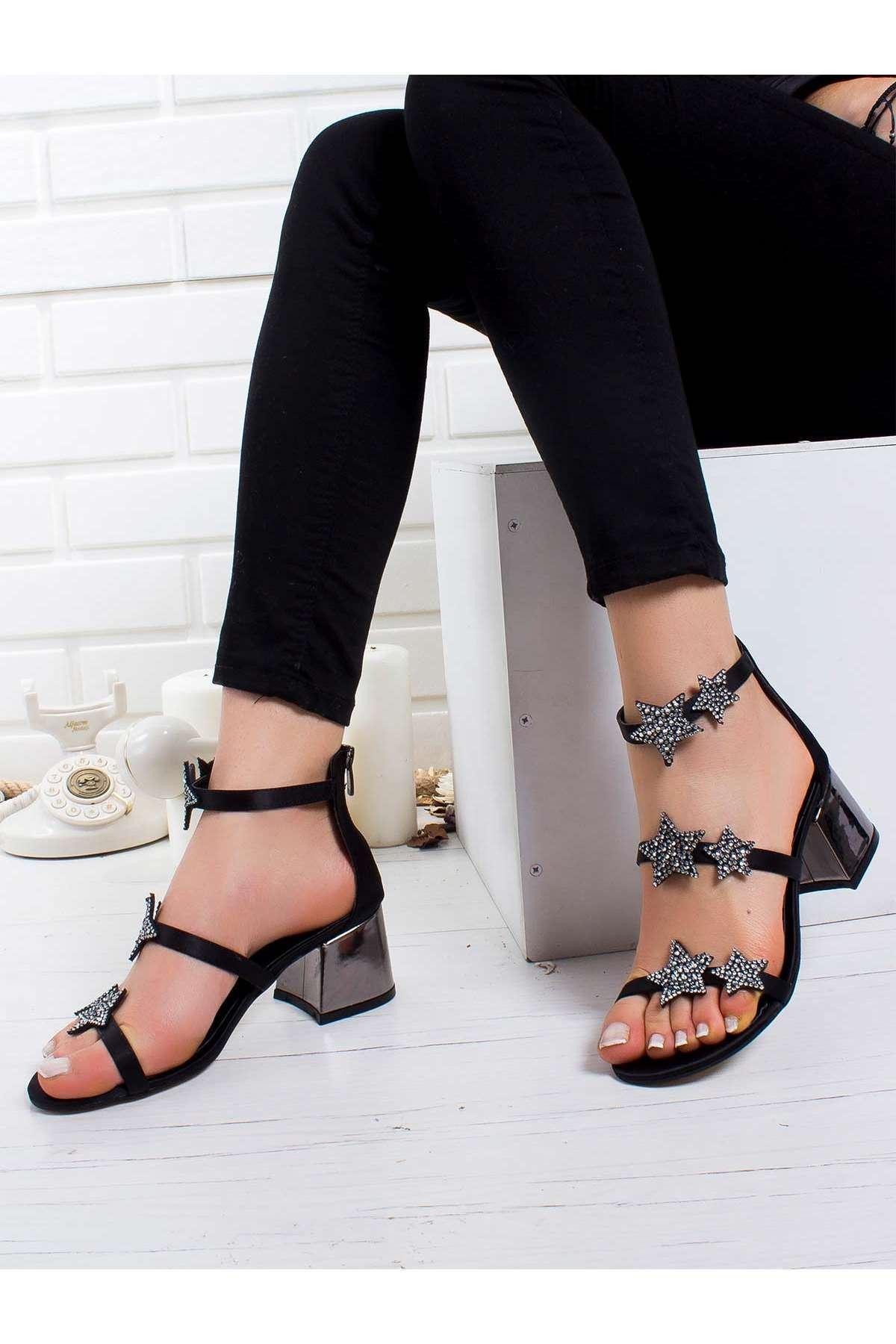 Yıldas Topuklu Ayakkabı SIYAH