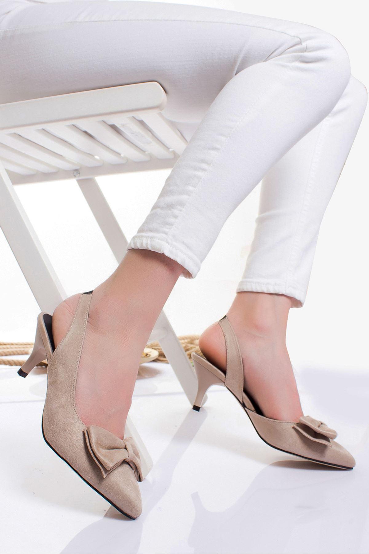 Berit Topuklu Ayakkabı TEN SÜET