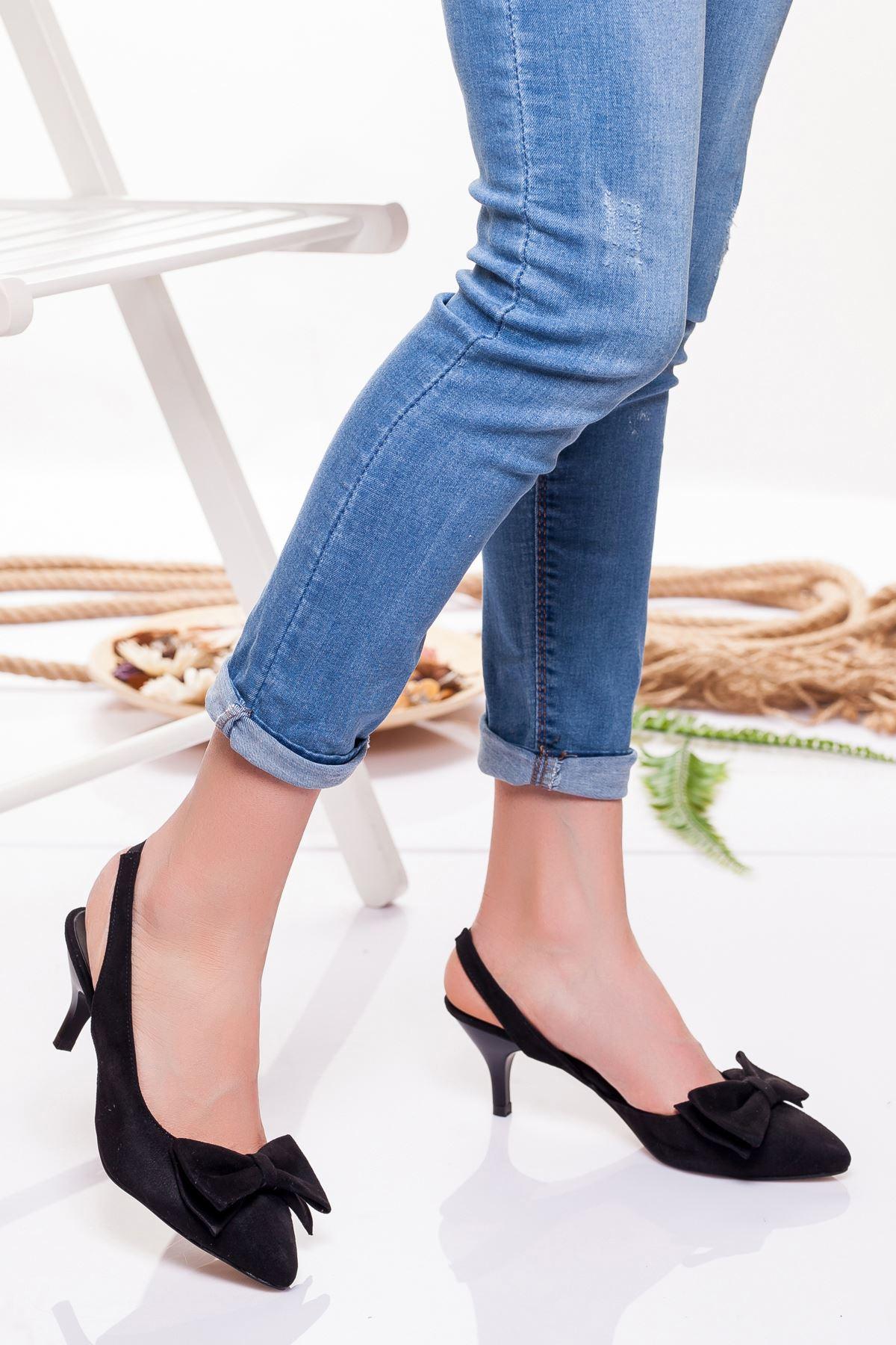 Berit Topuklu Ayakkabı SİYAH SÜET