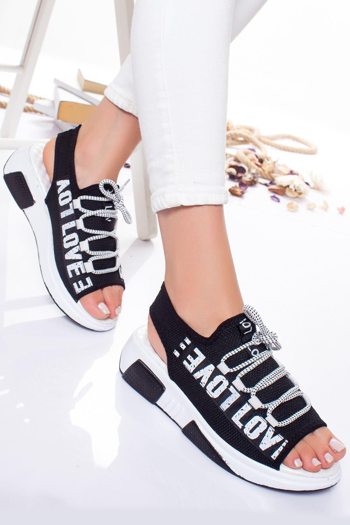 Bel Sandalet SIYAH