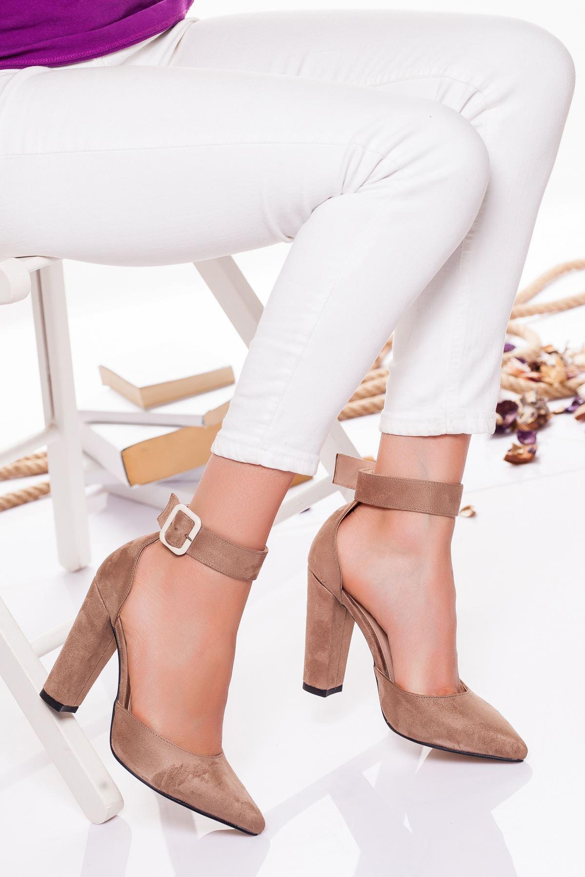 Belle  Topuklu Ayakkabı VİZON