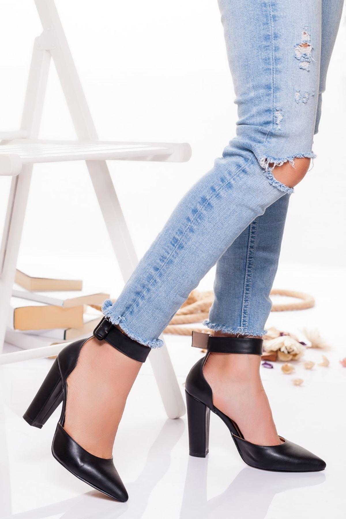 Belle  Topuklu Ayakkabı SİYAH CİLT