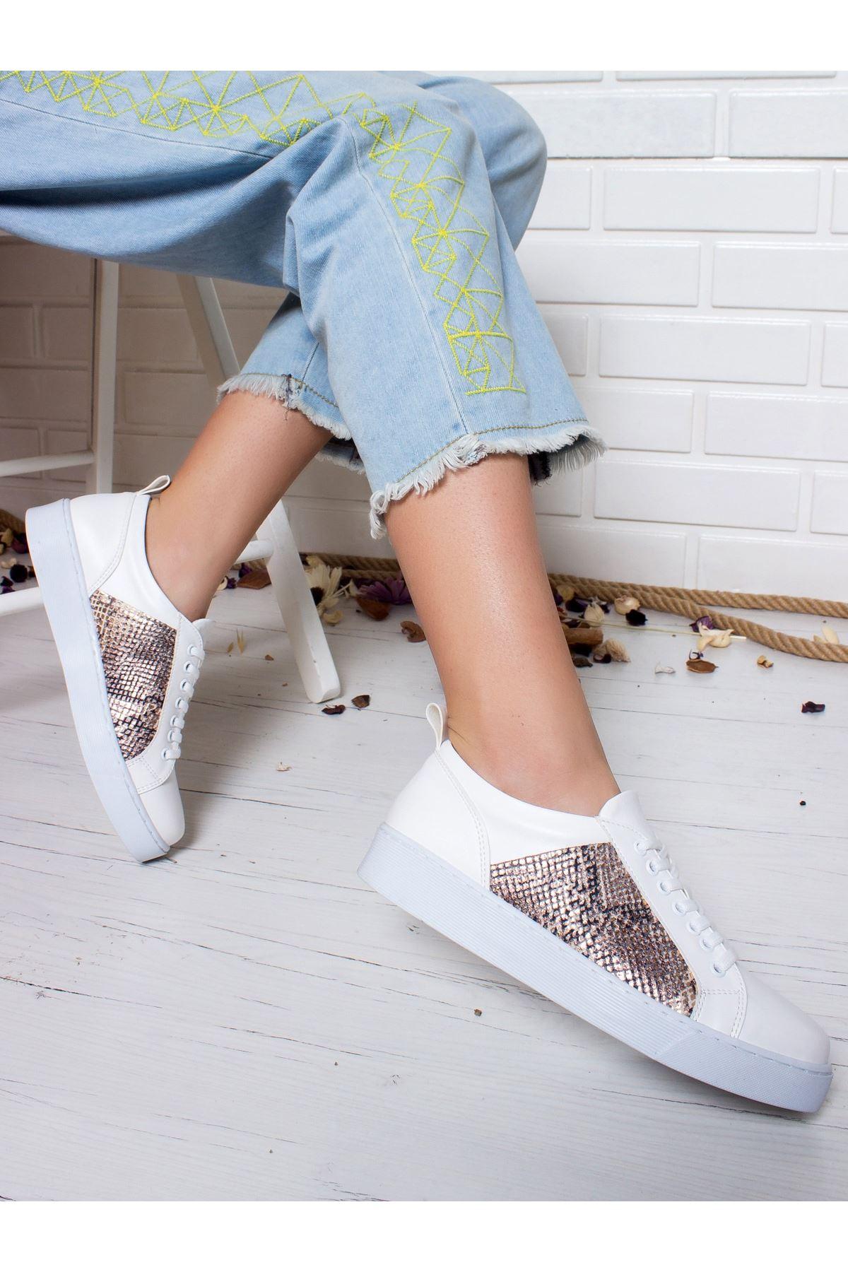 Bambina Spor Ayakkabı BEYAZ-ALTIN