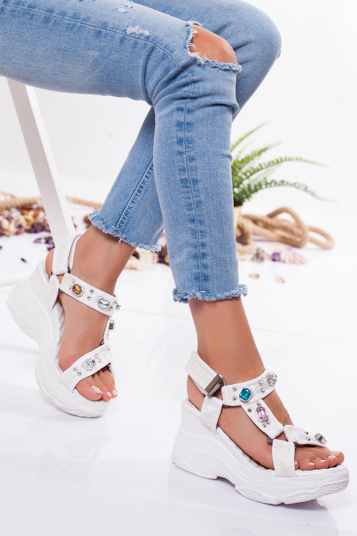 Acnes Sandalet BEYAZ