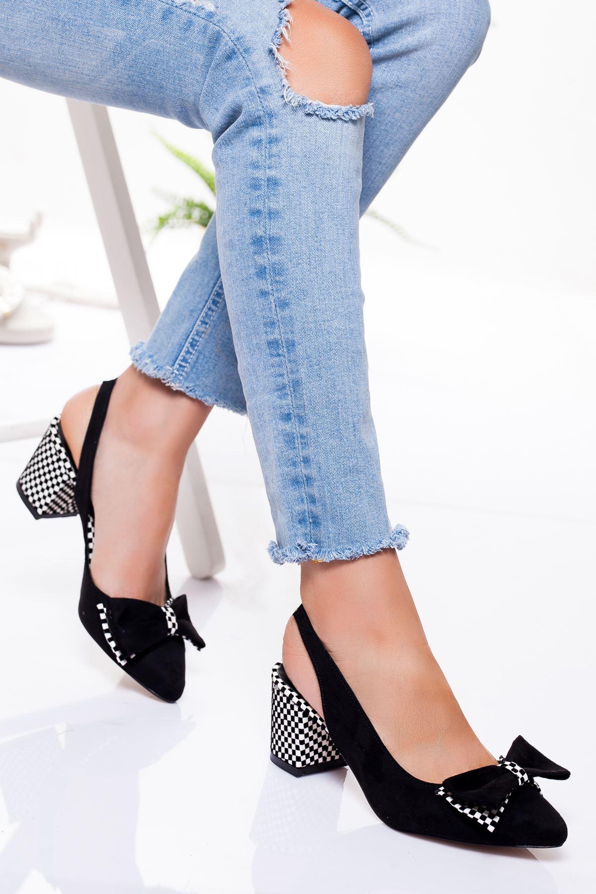 Chano Topuklu Ayakkabı SİYAH SÜET