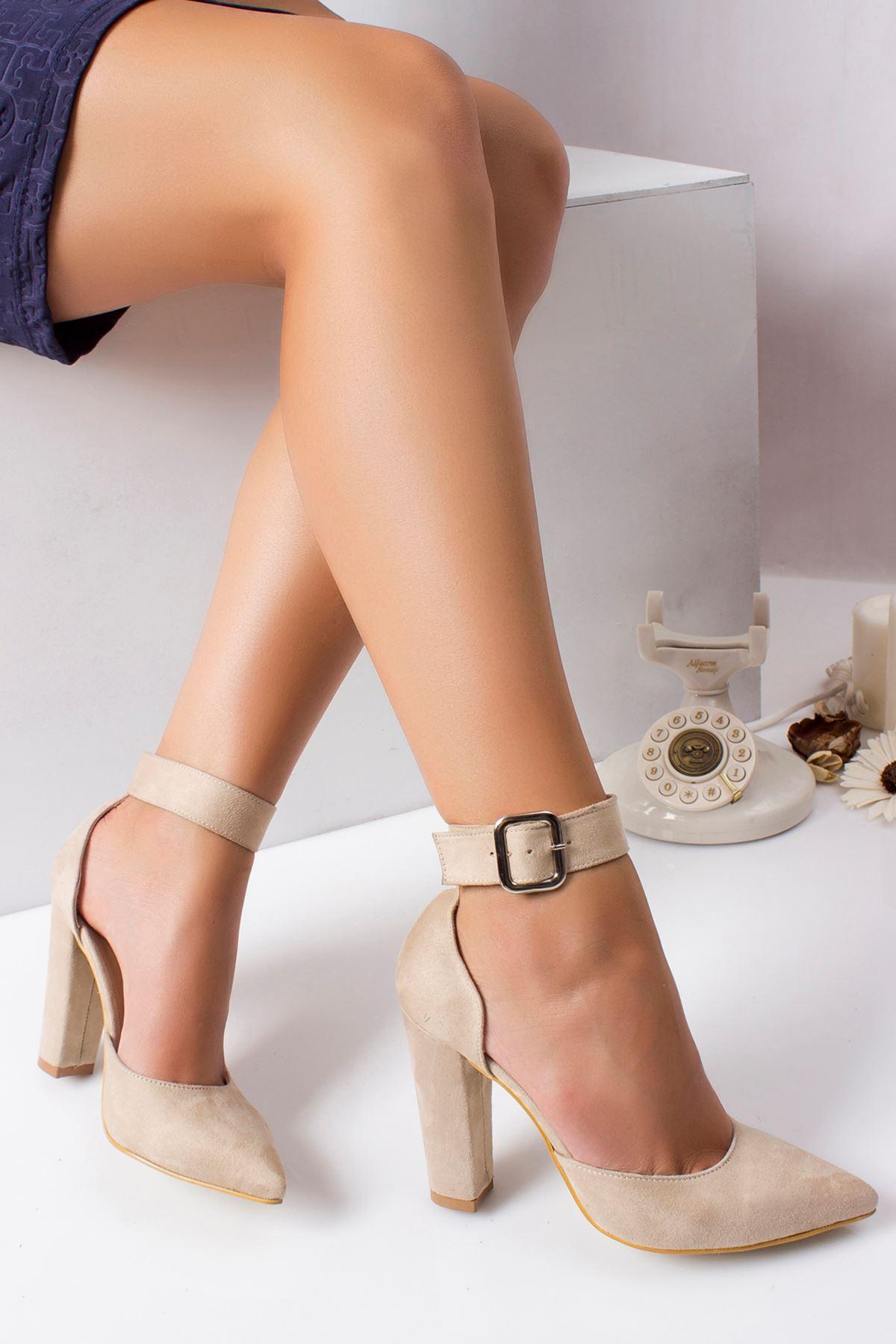 Belle Süet Topuklu Ayakkabı TEN