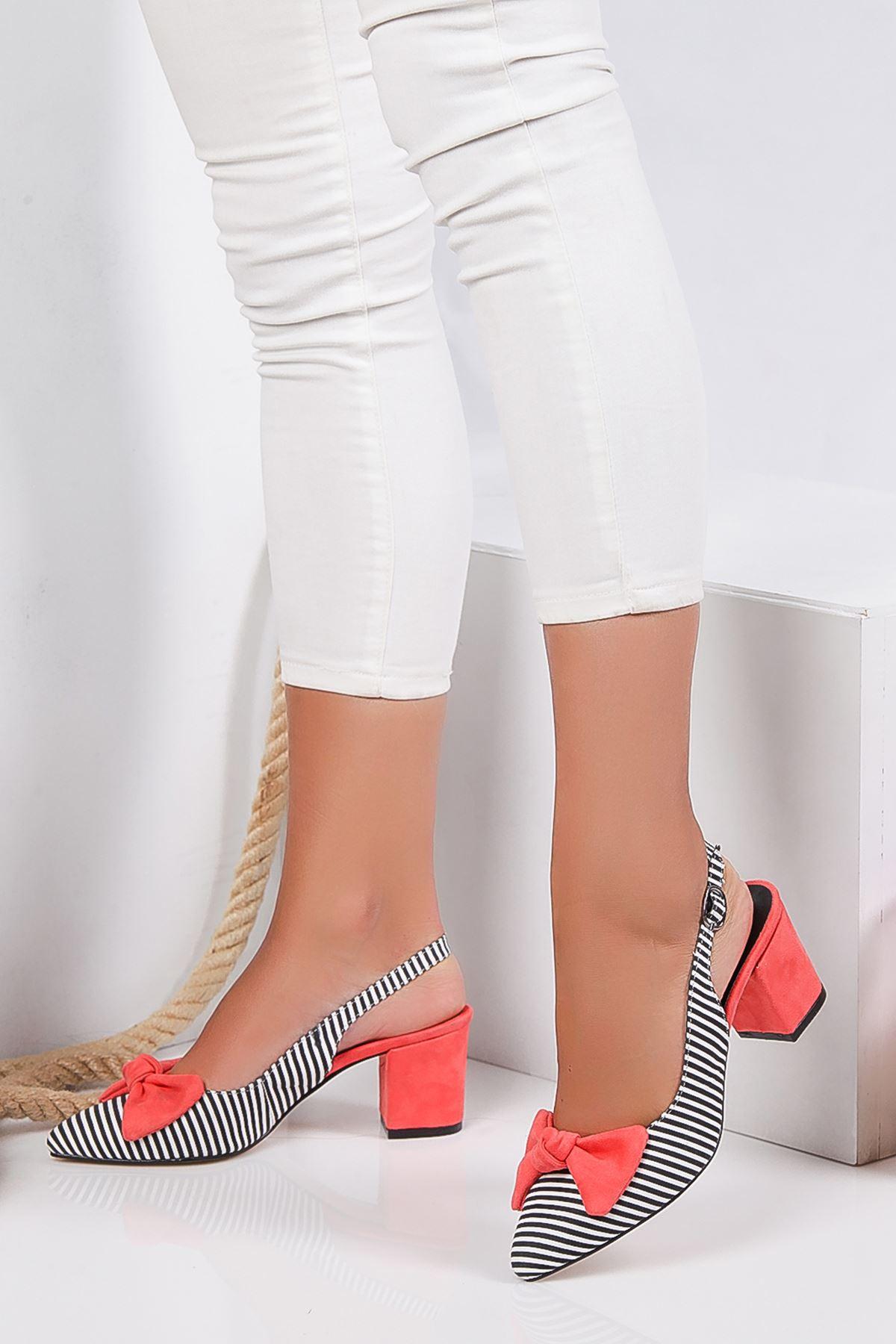 Cally Süet Topuklu Ayakkabı TURUNCU