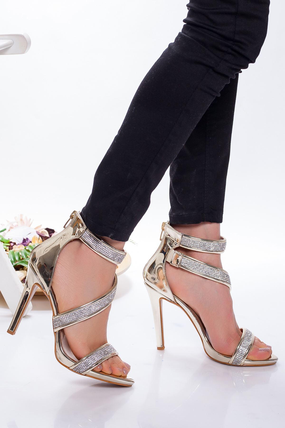 Grace Platform Ayakkabı GOLD-AYNA
