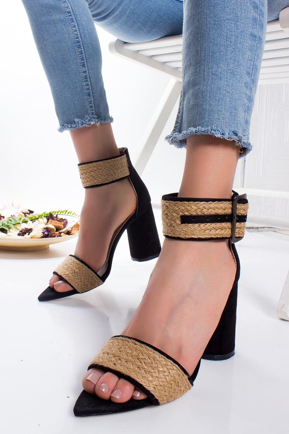 Fregot Topuklu Ayakkabı SIYAH