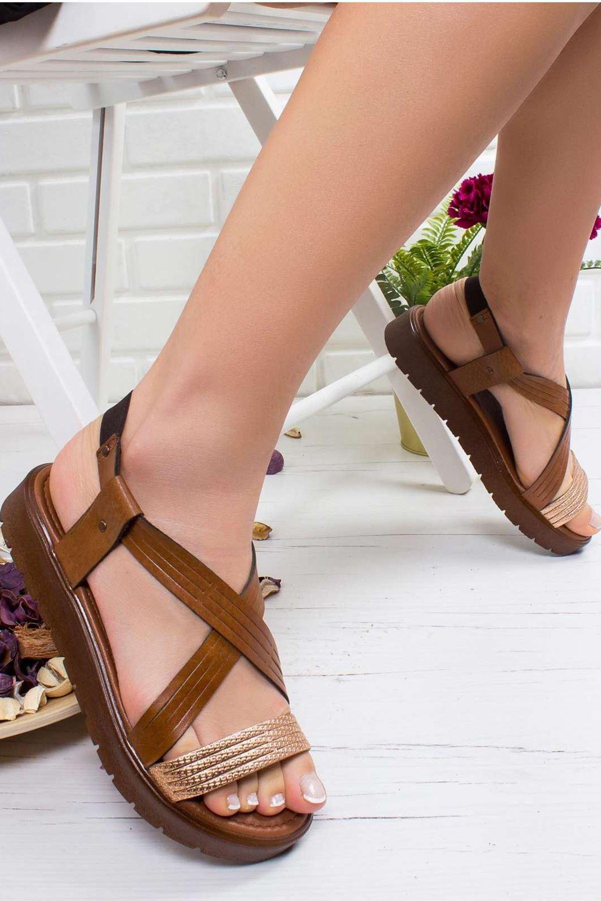 Jade Hakiki Deri Sandalet TABA
