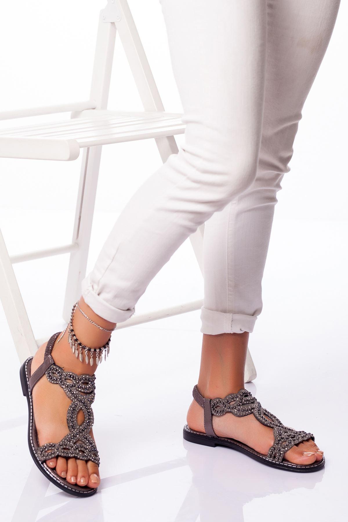 Patnos Sandalet PLATİN