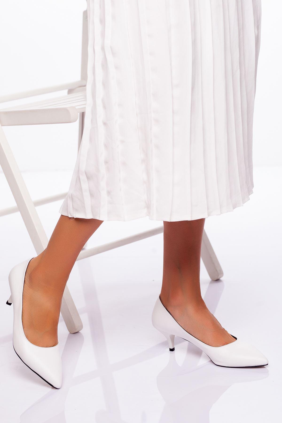 Abella Topuklu Ayakkabı BEYAZ CİLT