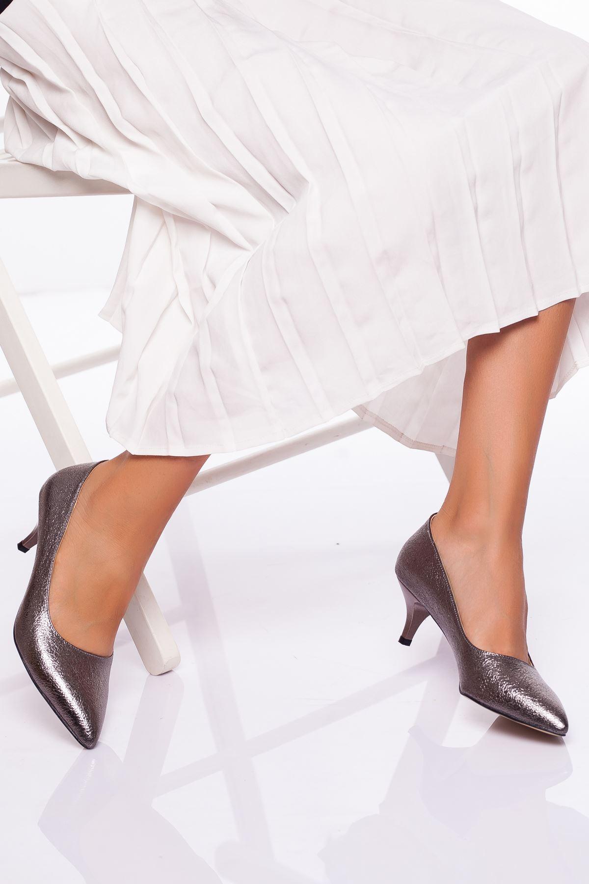 Abella Topuklu Ayakkabı PLATİN