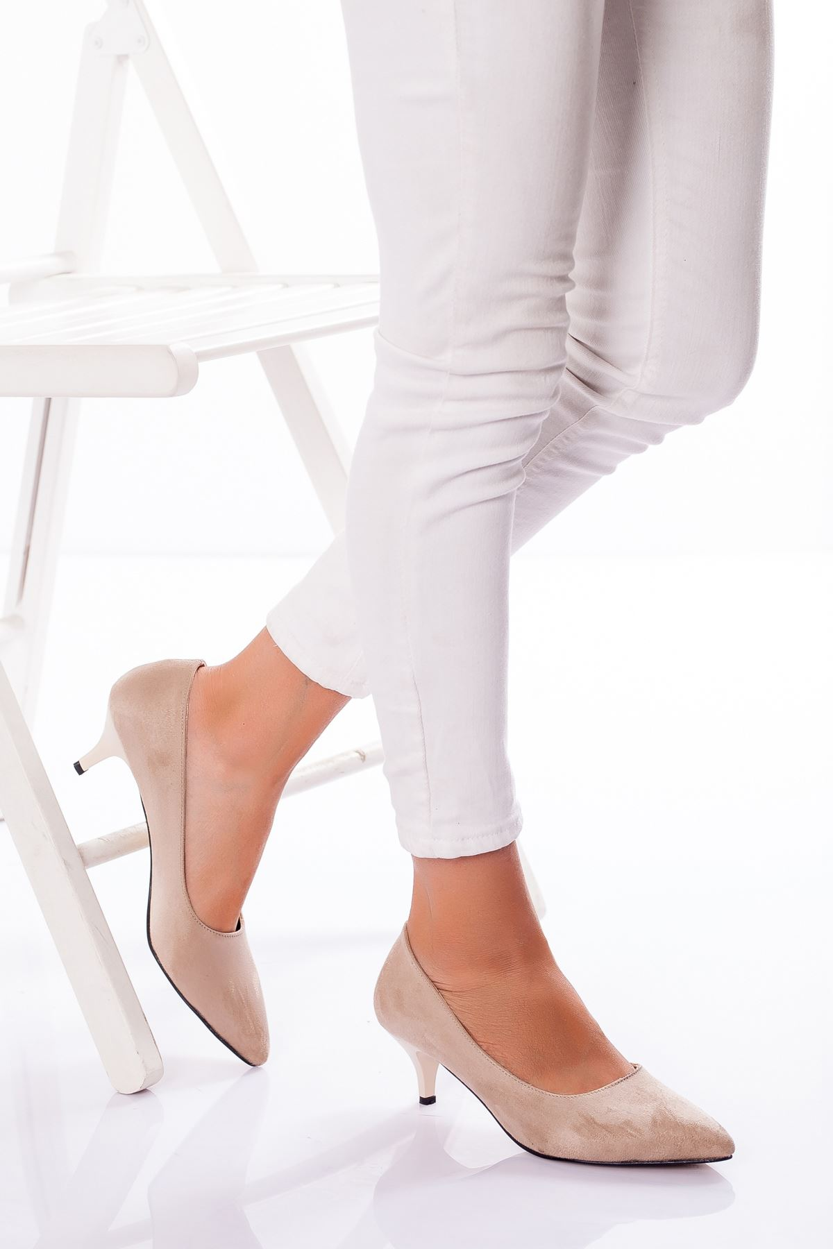 Abella Topuklu Ayakkabı TEN SÜET