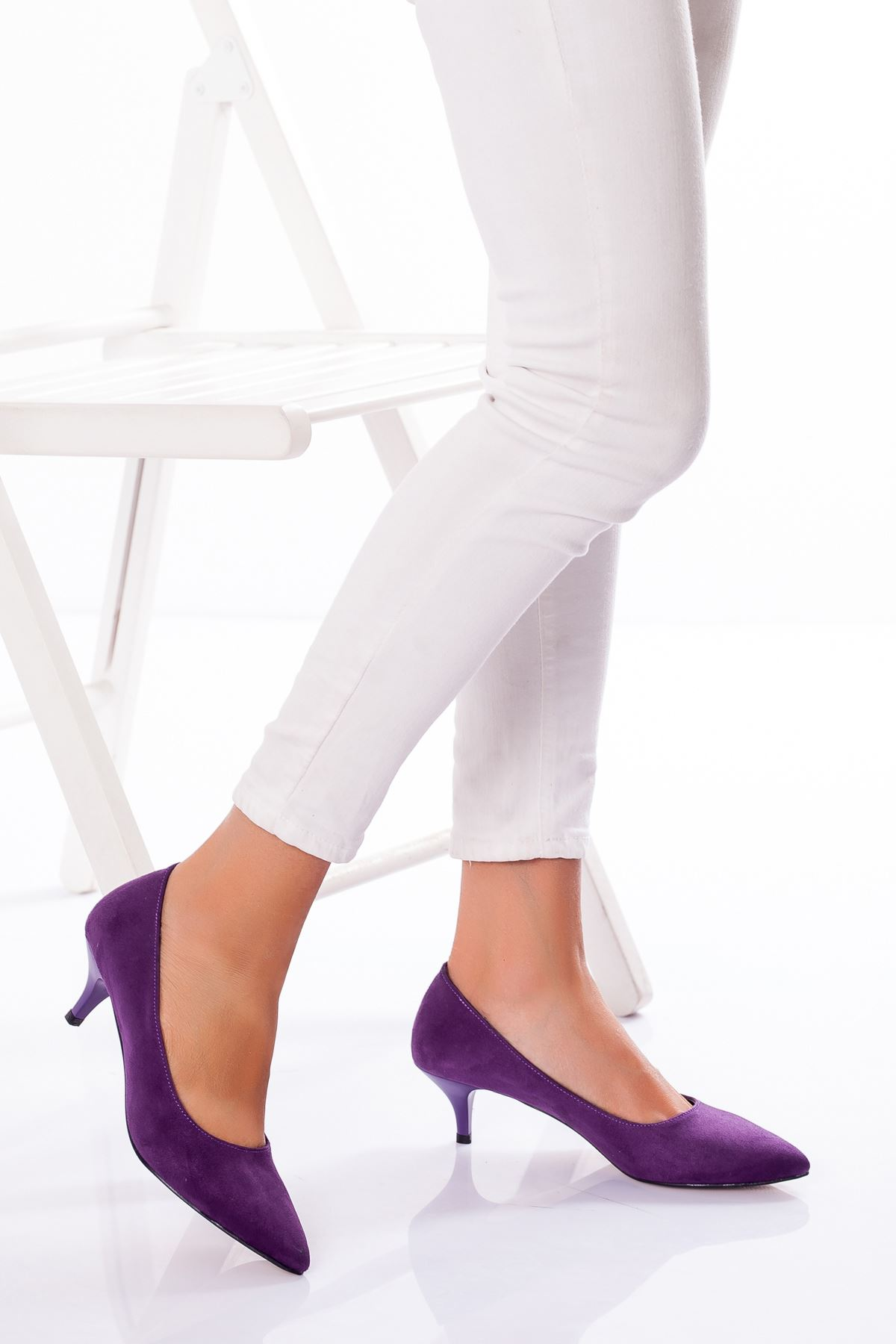 Abella Topuklu Ayakkabı MOR SÜET