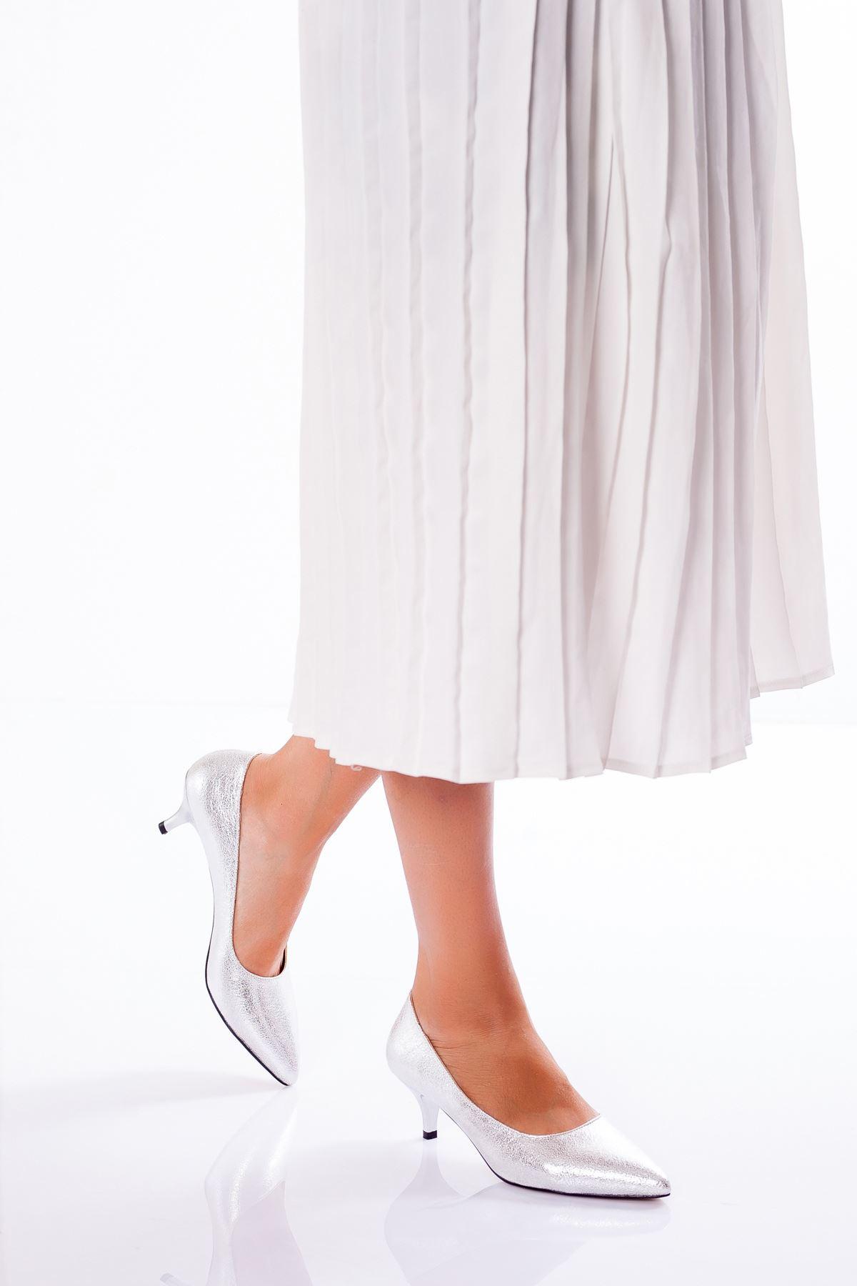 Abella Topuklu Ayakkabı GÜMÜŞ