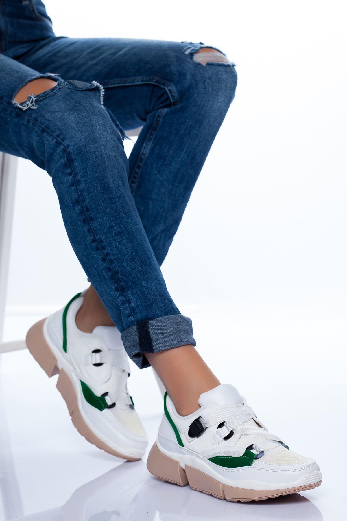 Cindy Spor Ayakkabı BEYAZ-YESİL