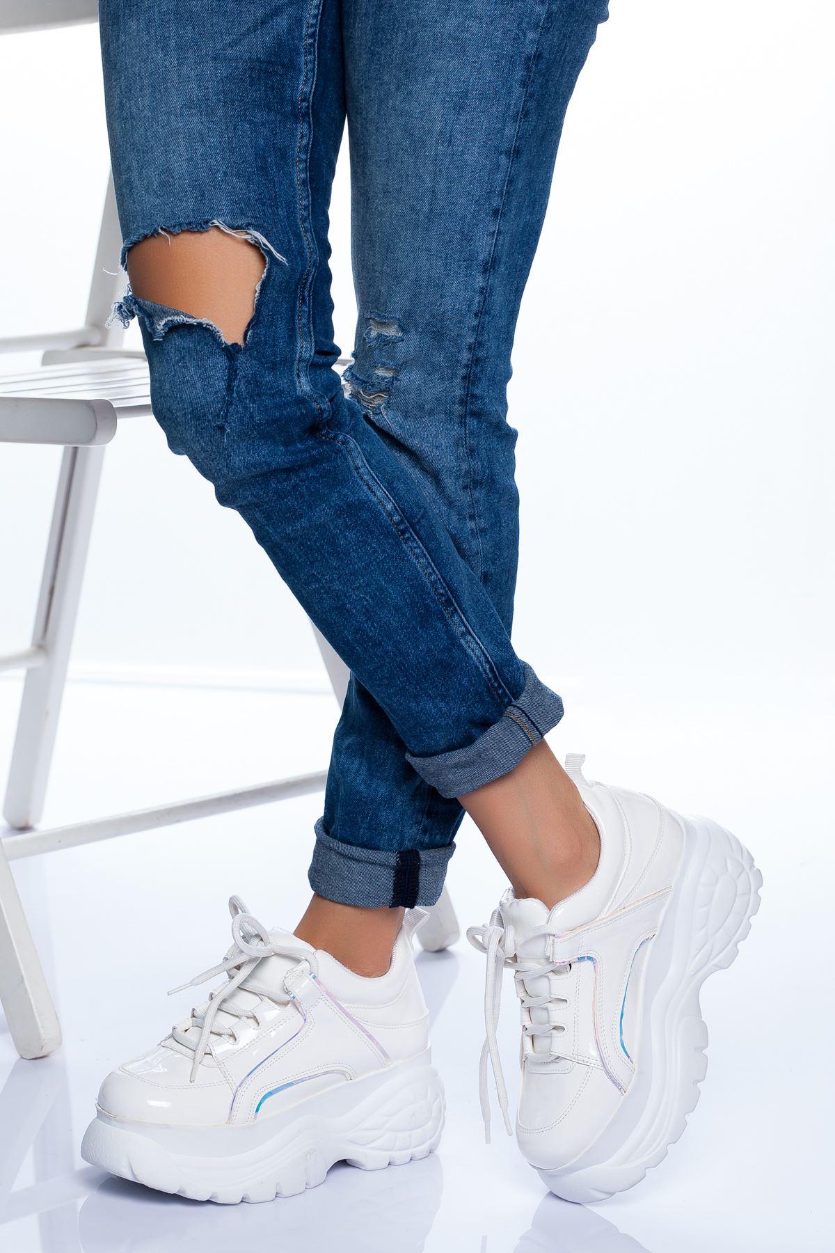 Cristal Spor Ayakkabı BEYAZ RUGAN