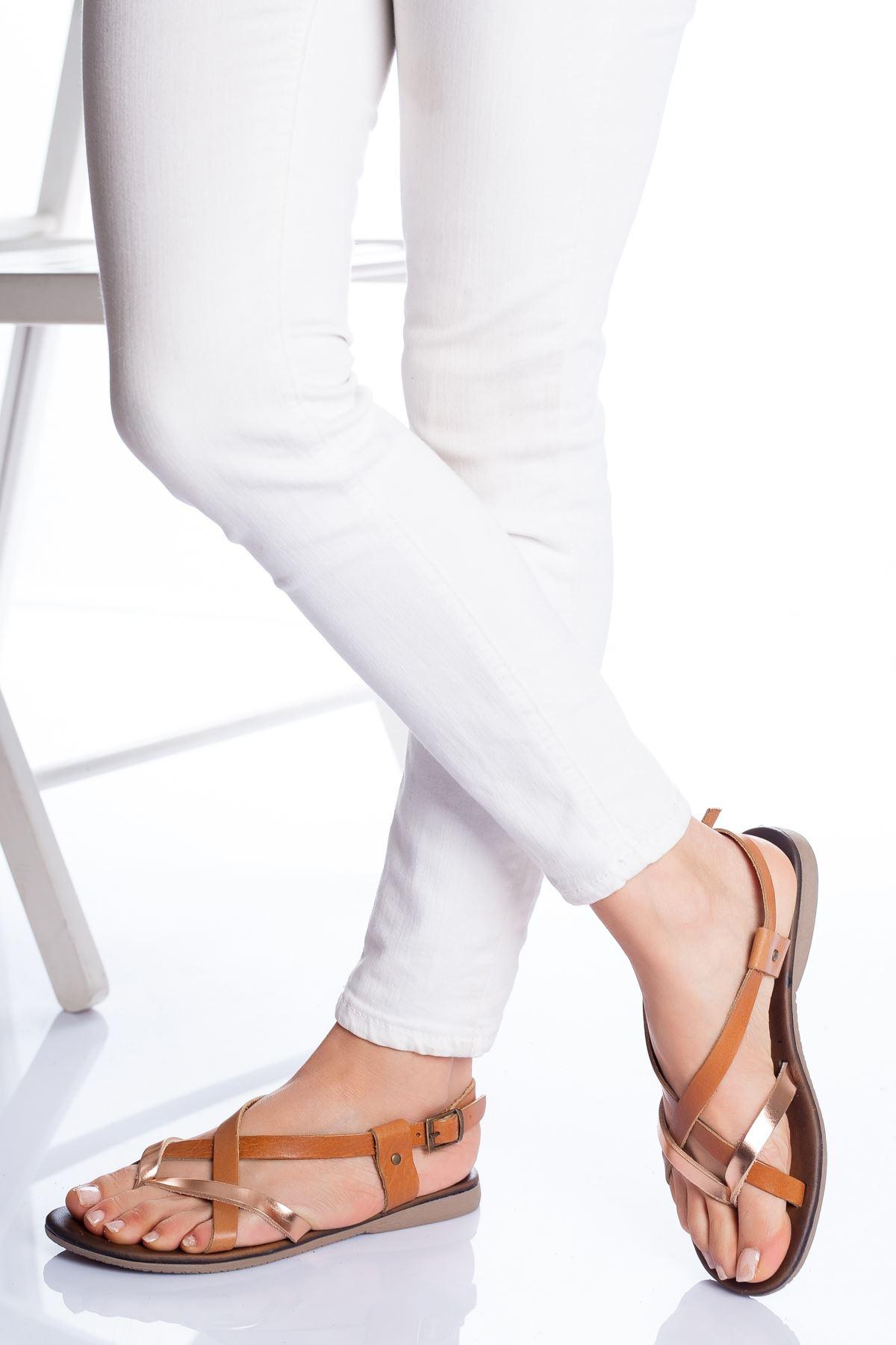 Amara Hakiki Deri Sandalet TABA