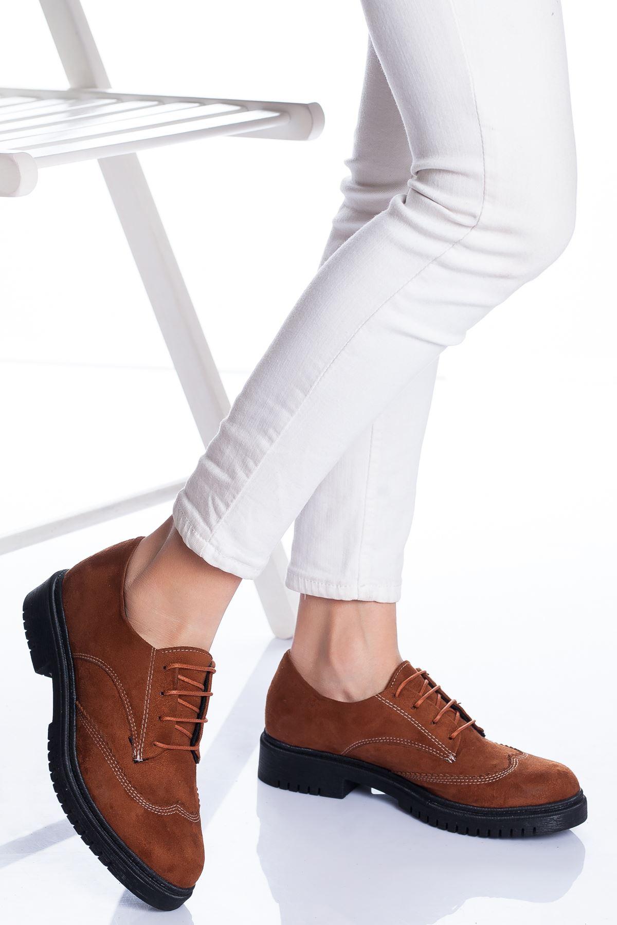 Zarina Ayakkabı TABA SÜET