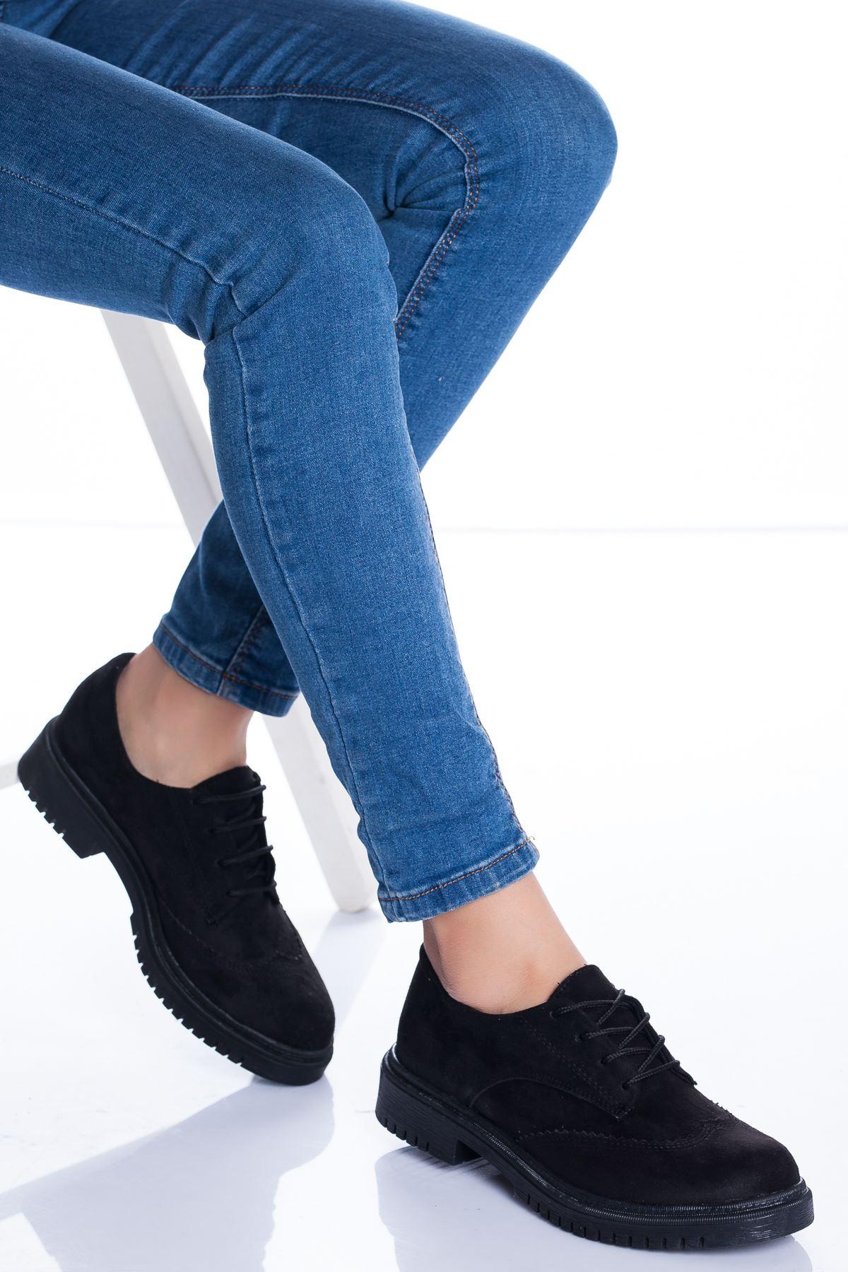 Zarina Ayakkabı SİYAH SÜET