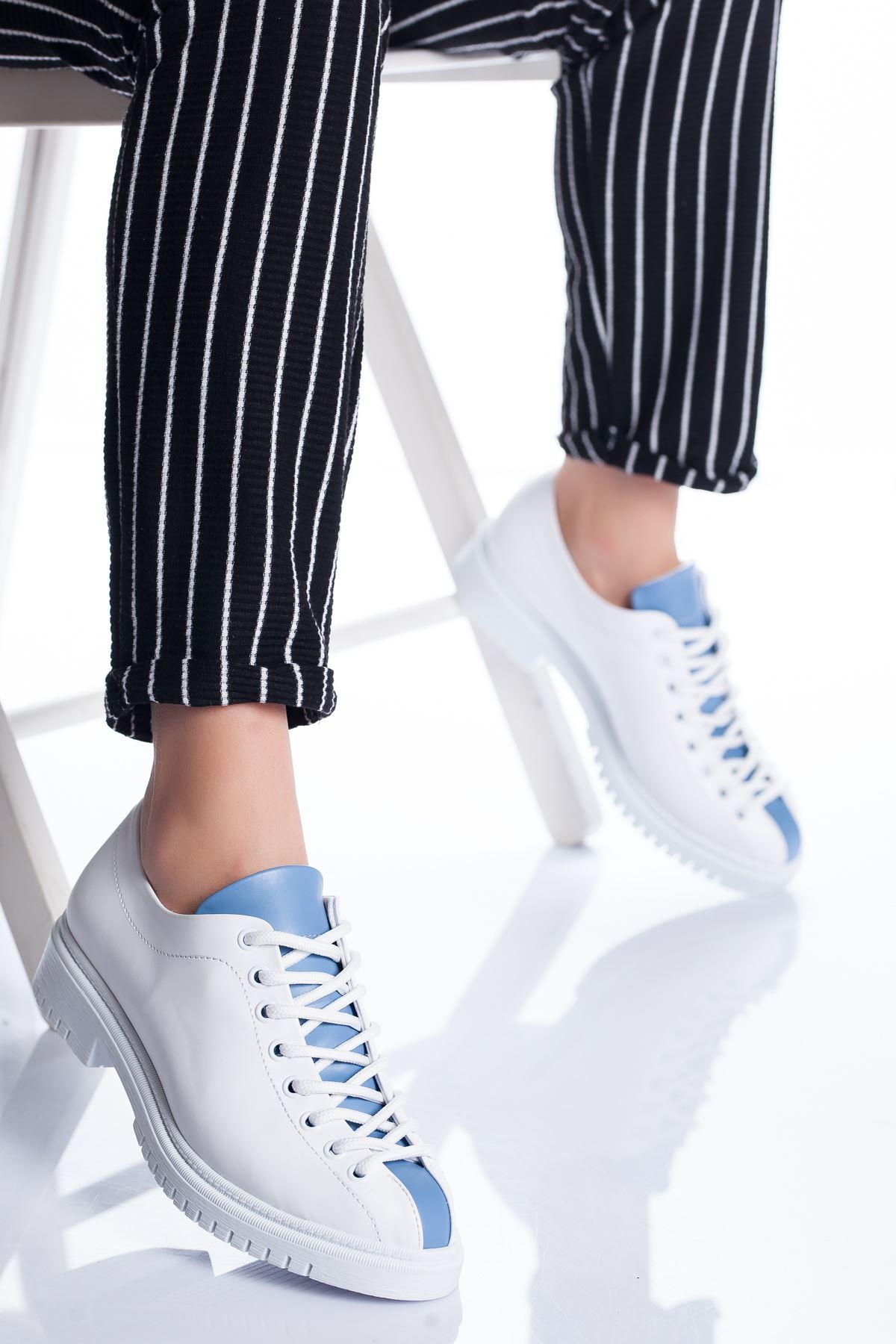 Tamara Ayakkabı Beyaz-Mavi