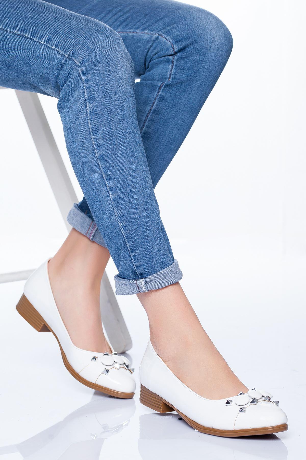 Lucy Babet Ayakkabı BEYAZ RUGAN