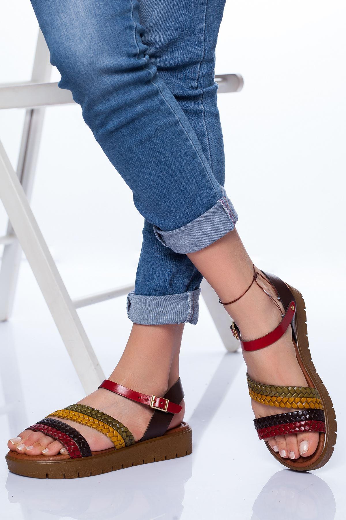 Coretta Deri Sandalet MİX
